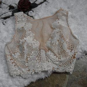 Victoria's Secret Floral High Neck Bra Size 32D